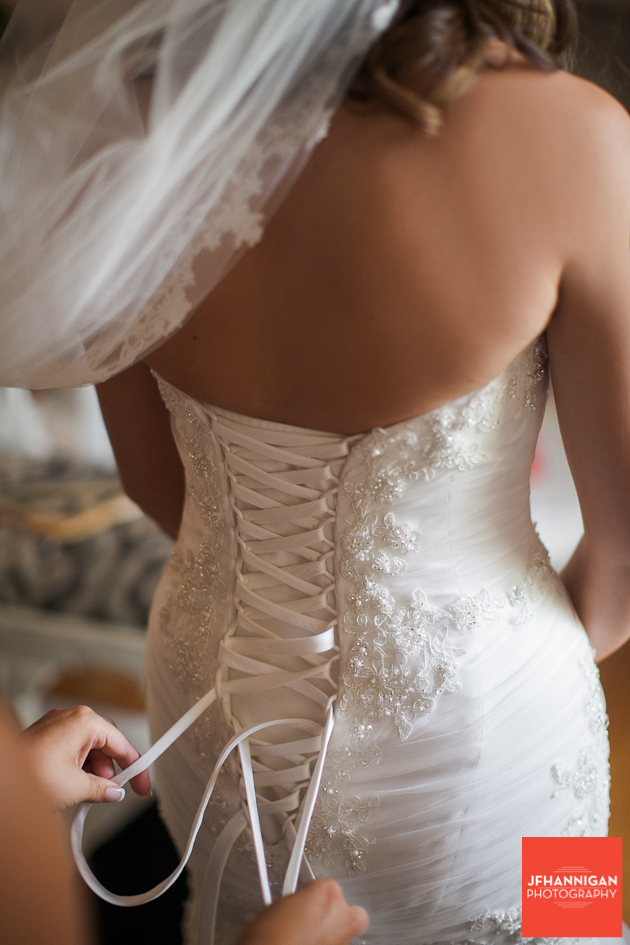 lacing bridal gown