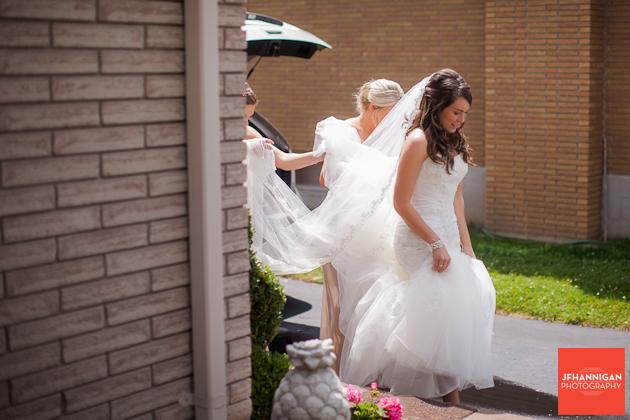 bride preparing to go to church