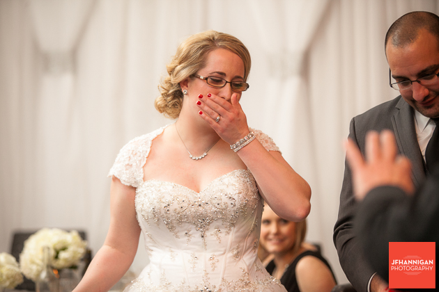 bride's reaction to father of groom's gifts