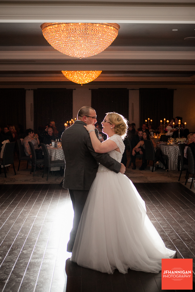 first dance with back light