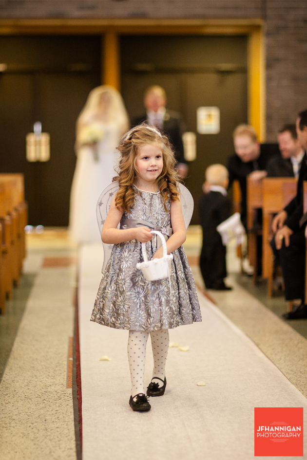 flower girl scattering pedals