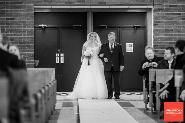 entrace of bride and father