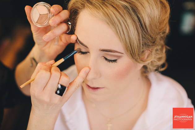 bride's eye shadow
