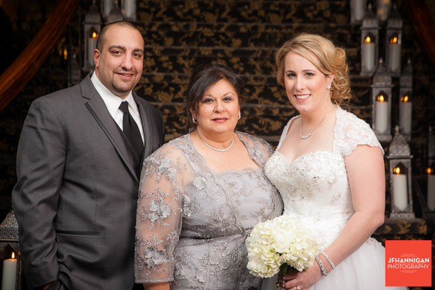 bride and groom with mother