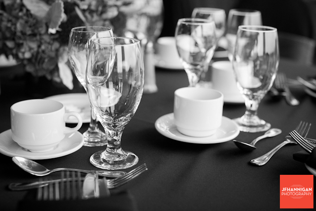 tableware at wedding reception