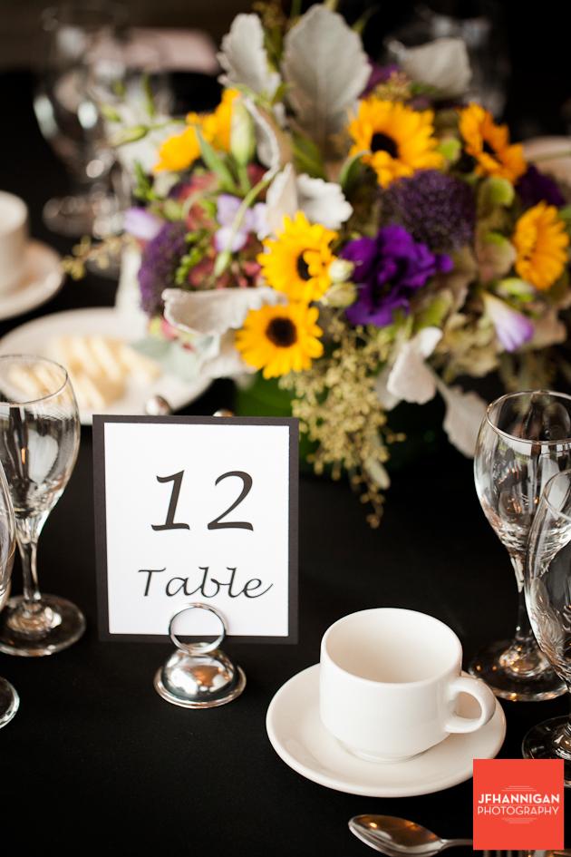 wedding reception talbe
