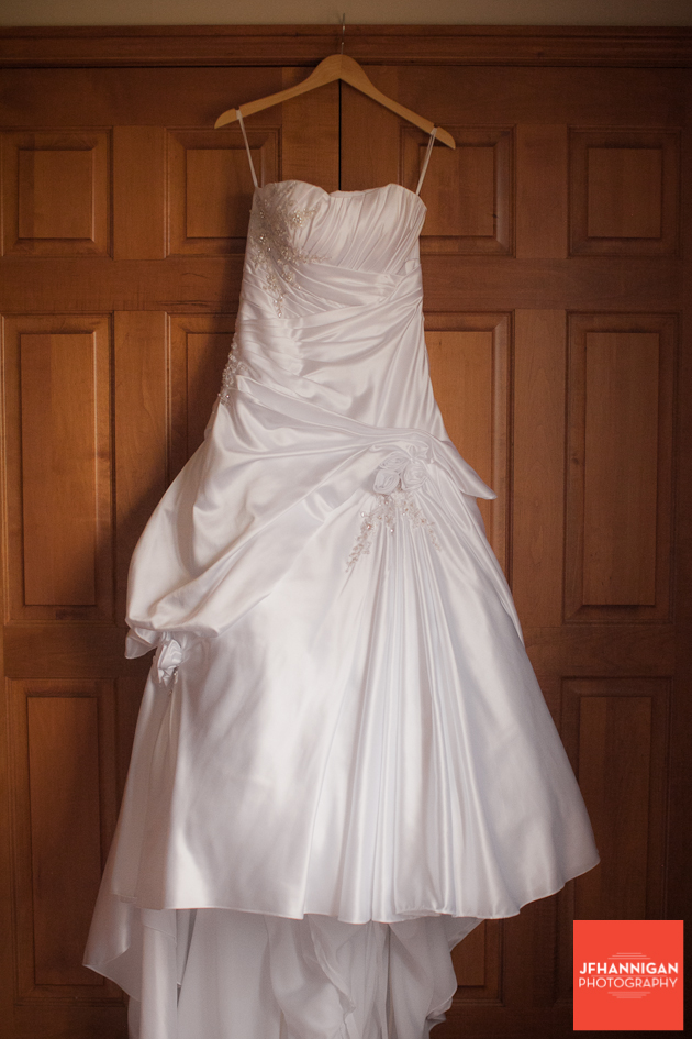 satin bridal gown