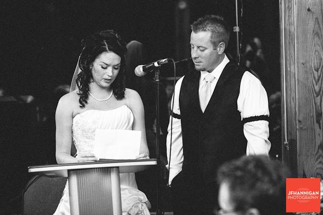 bride's speech at wedding recepion