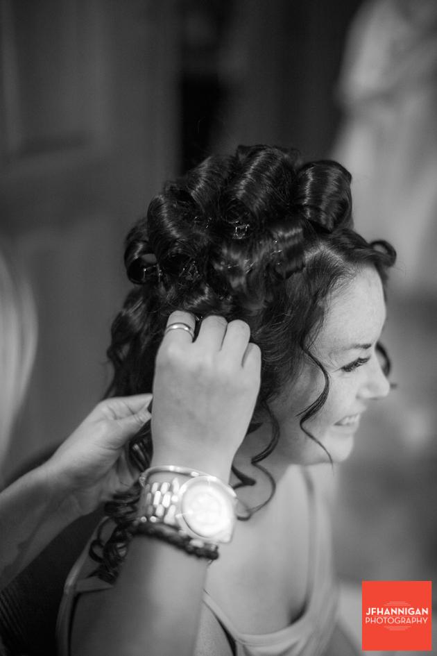 bridal party hair dos