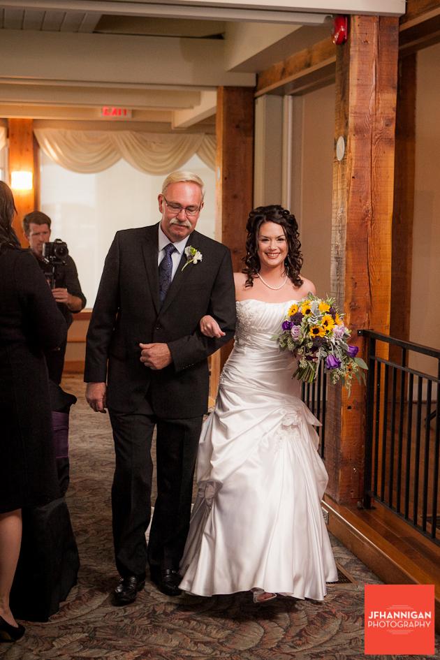 entrance of bride to wedding ceremony