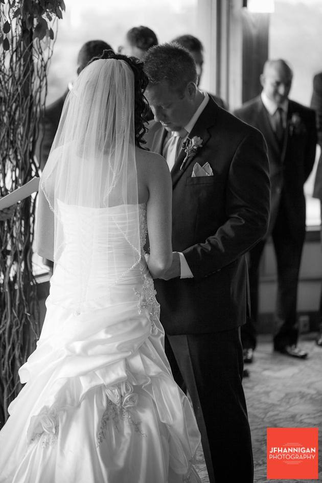 prayer during wedding ceremony