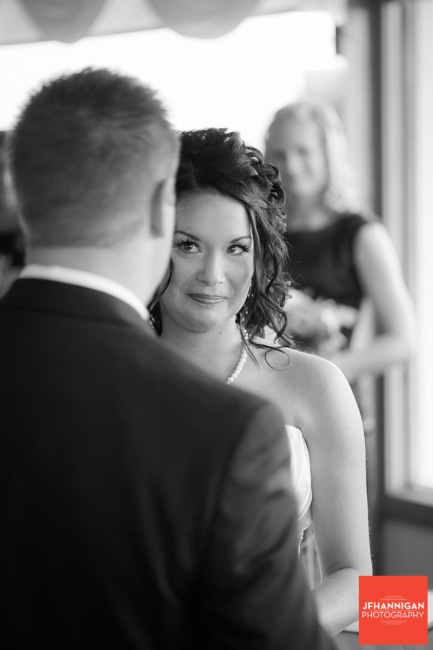bride during vows