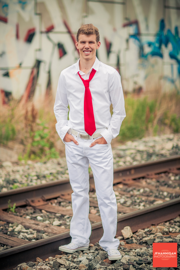 Train tracks, Graffiti wall, Graduation Photo Shoot, Niagara Wedding Photography