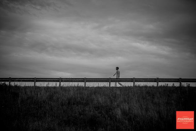 Walking on the road, black and white, Graduation Photo Shoot, Niagara Wedding Photography