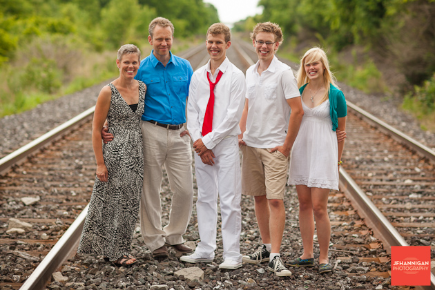 Family shot, train tracks, Graduation Photo Shoot, Niagara Wedding Photography