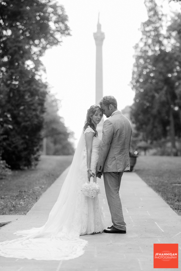 Black and White, Queenston Heights, Brock Monument, Bride and Groom, Wedding Day, Niagara Wedding Photographer, Niagara Wedding Photography