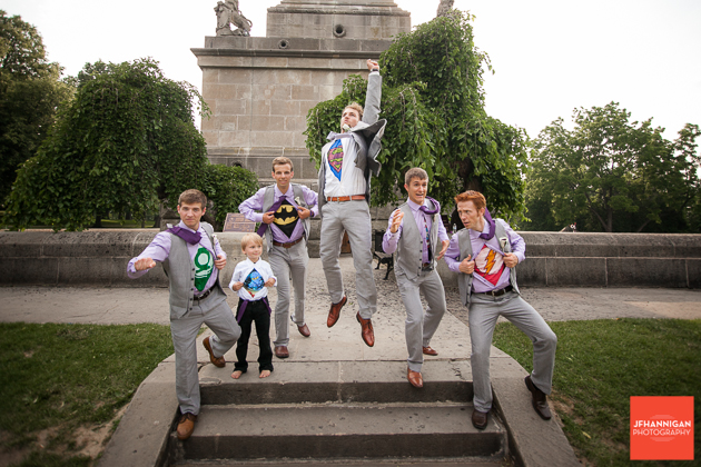 superheros, Groomsmen, Queenston Heights, Wedding Day, Niagara Wedding Photographer, Niagara Wedding Photography