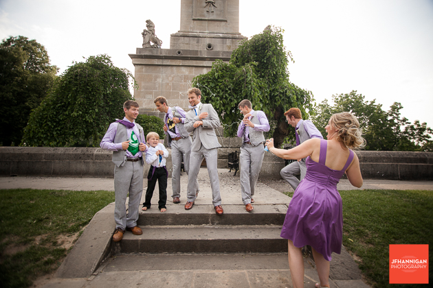 Silly String, Groomsmen, Queenston Heights, Wedding Day, Niagara Wedding Photographer, Niagara Wedding Photography