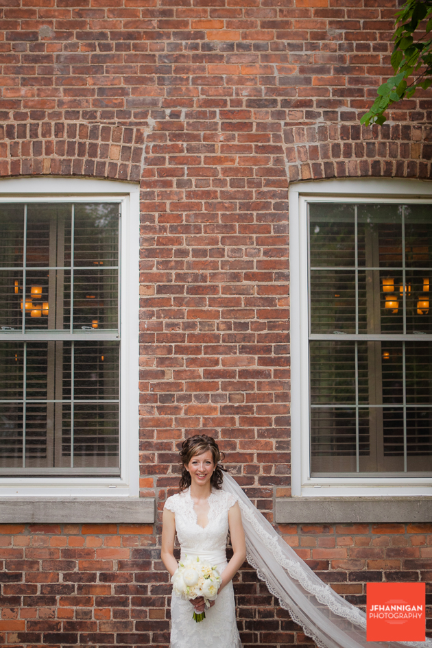 Bride, Brick Wall, Wedding Dress, Wedding Details, Wedding Day, Niagara Wedding Photographer, Niagara Wedding Photography
