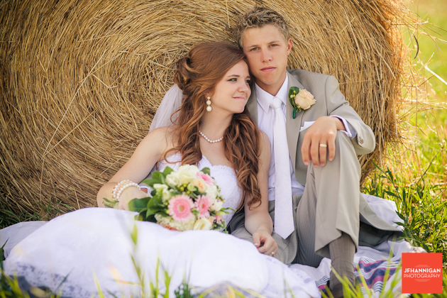 Bride And Groom Hay Bale Wedding Day Photo Shoot Niagara