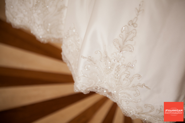 beading on bridal gown