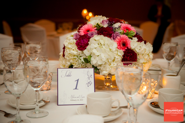 table setting wedding reception