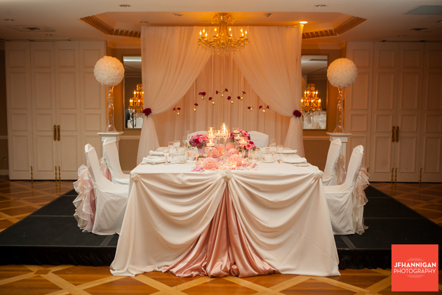 head table wedding reception