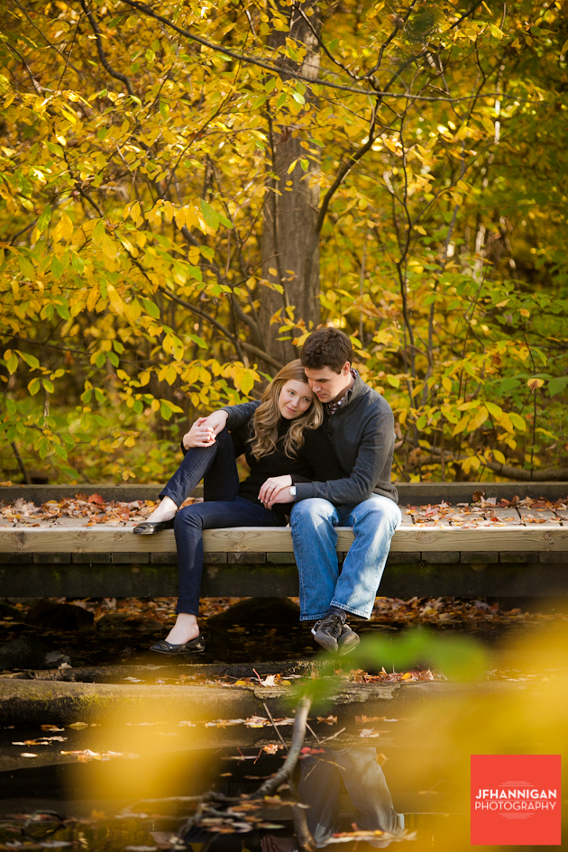 Bridge, Trees, Wooden Area, Dufferin Islands, Engagement Photo Shoot, Bride and Groom to be, Niagara Wedding Photographer, Niagara Wedding Photography