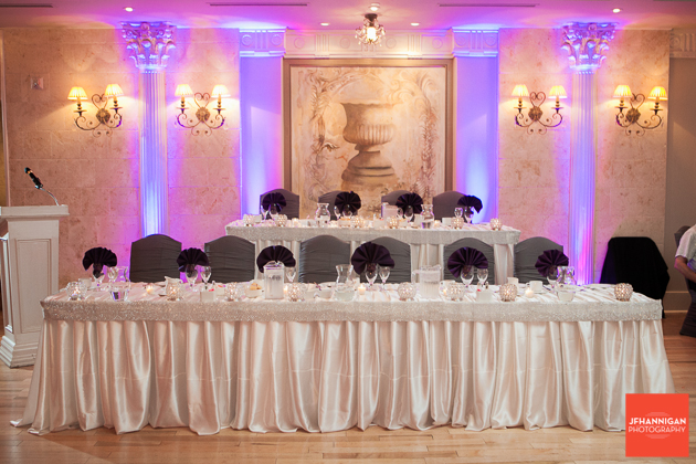 wedding reception head tables