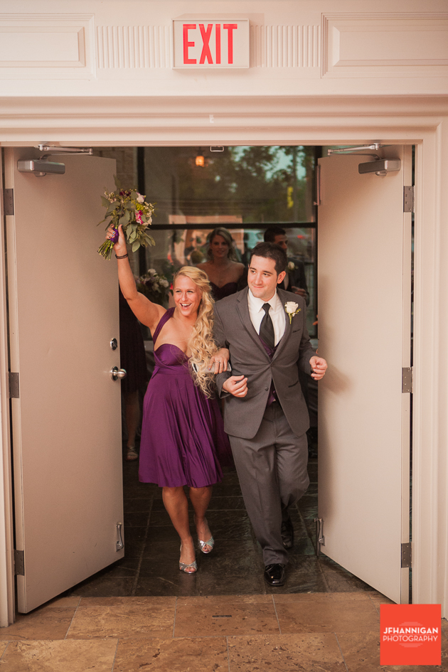 wedding party entrance to reception