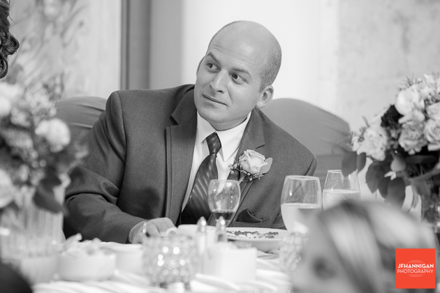 groom listens to speeches