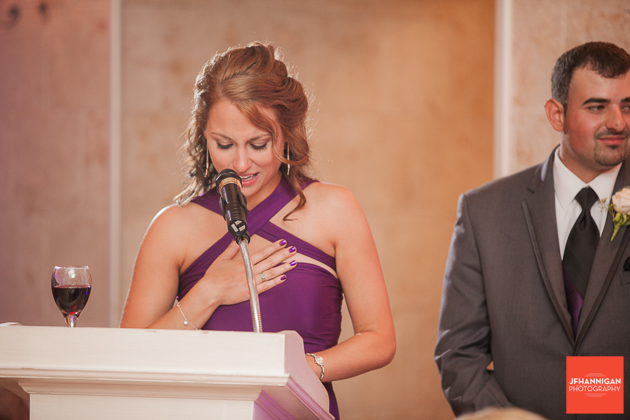 bridesmaid speech at reception