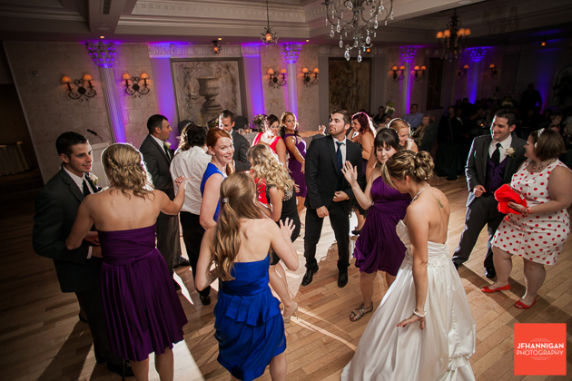 bride dancing with wedding guests