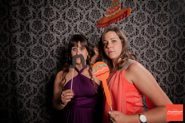 photobooth at wedding reception Niagara Wedding Photographer