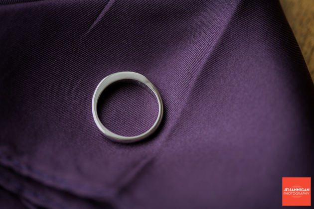 ring on purple handkerchief