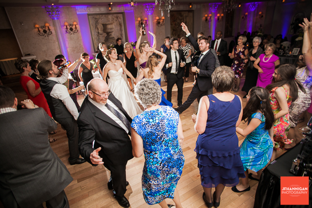 bride dances with wedding guest