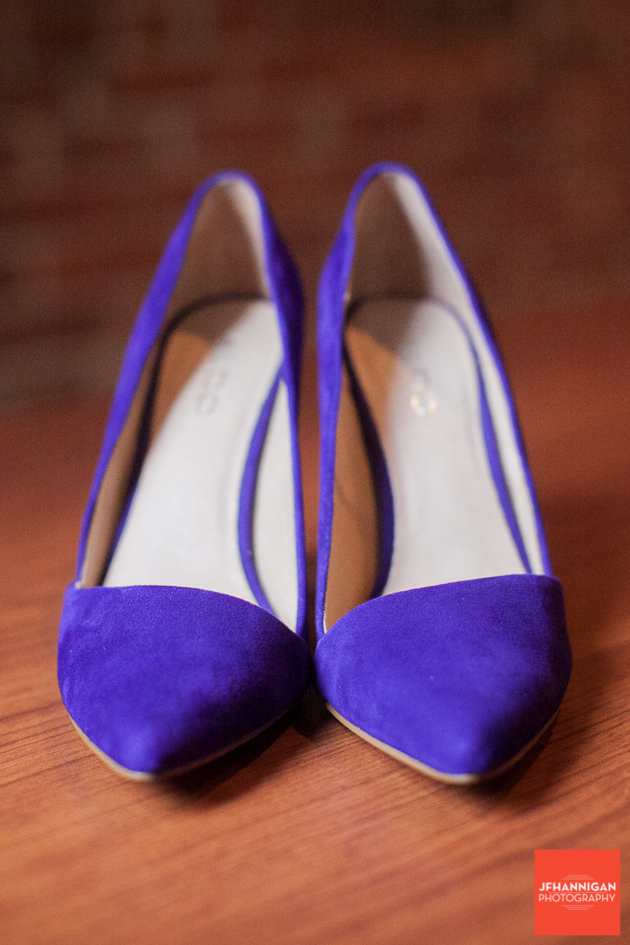 purple bridal shoes