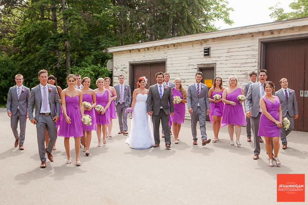 niagara, wedding, joel, hannigan, photography, walking, party, bride, groom