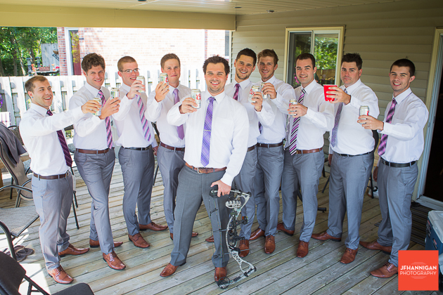 niagara, wedding, beer, groomsman, groom, coors, purple