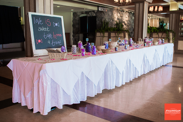 niagara, wedding, joel, hannigan, photography, bride, groom, candy, table