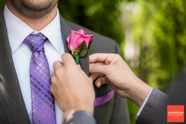 niagara, wedding, joel, hannigan, photography, groom, flower, pink, purple