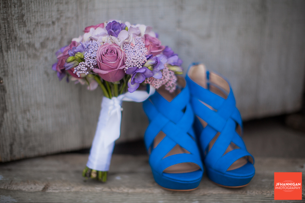 niagara, wedding, joel, hannigan, photography, flowers, shoes, blue