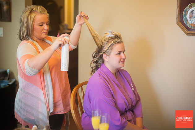 niagara, wedding, hair, makeup, morning, bride