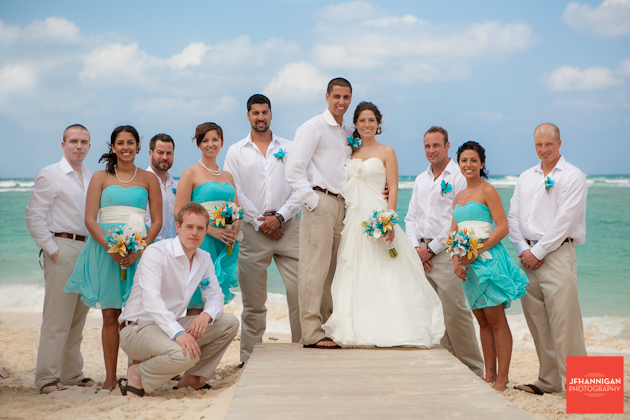 5 Ideas For A Great Beach Themed Wedding In Puglia: Teal Bridesmaid Dresses