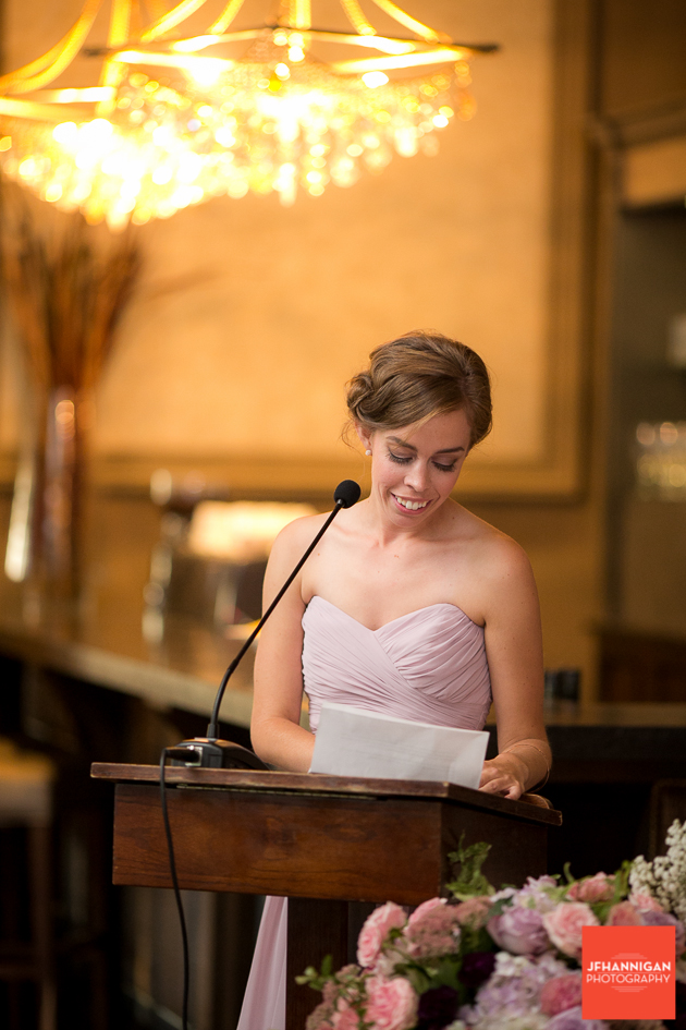 bridesmaid reception speech