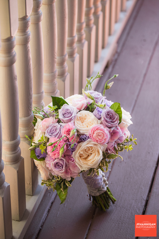 bridal bouquet in pink and mauve Niagara Wedding Photographer