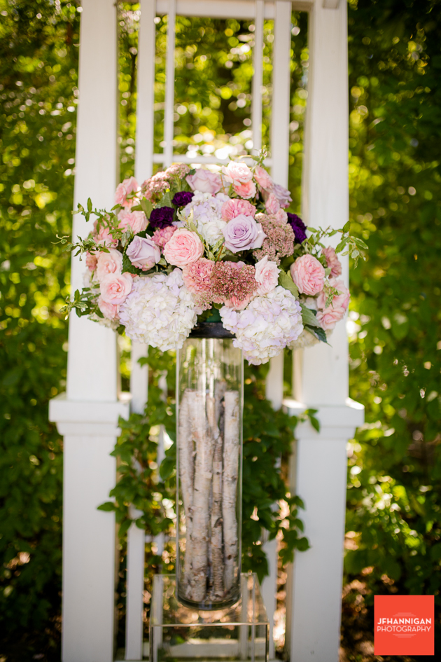 wedding flowers in mauve and pink