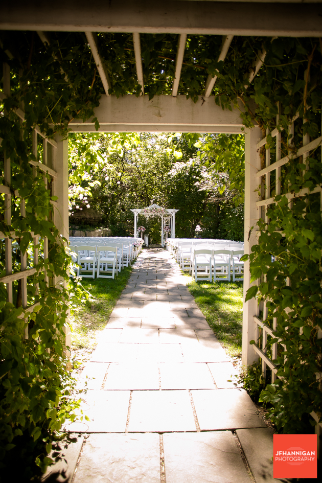 entrance to outdoor wedding setting