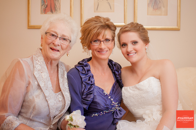grandmother, mother and bride