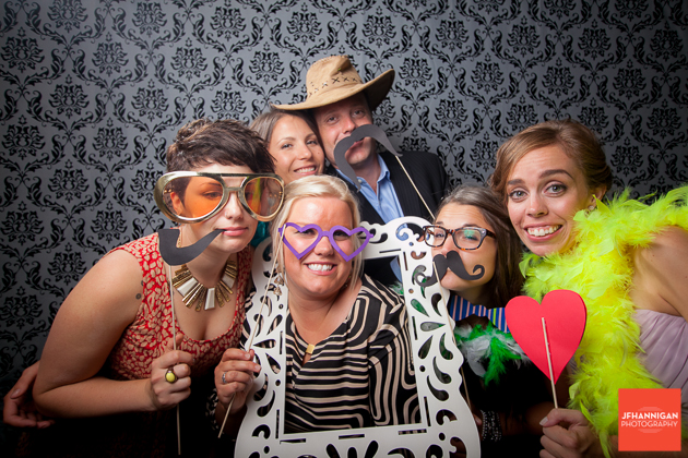 wedding reception photobooth